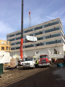 EDI Installs generator at Harbor Place in Haverhill MA